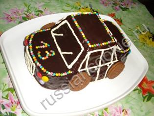 Торт машинка своими руками без мастики фото