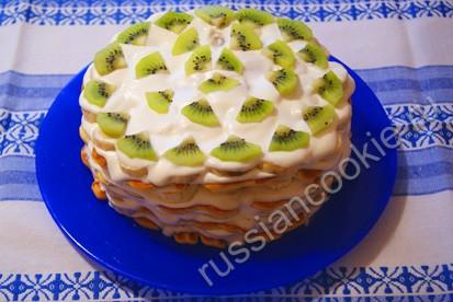 Торт из печенья весенний кулинарные