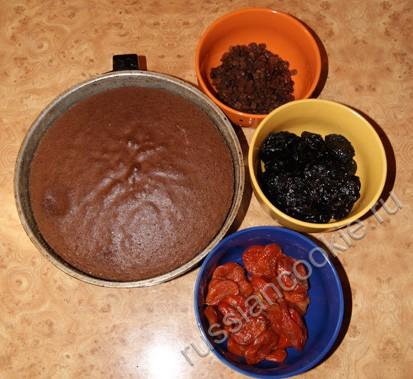 пирог с курагой и черносливом шаг 1